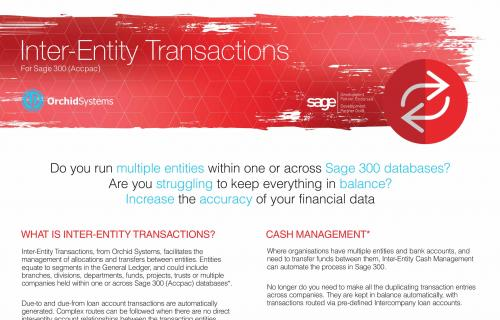 Inter-Entity Transactions Brochure